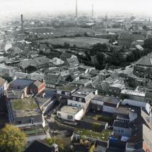 Luchtfoto vanaf de Grote Kerk Oss