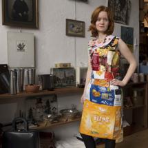 Chipszakken jurk met Rosewinthe Wibier