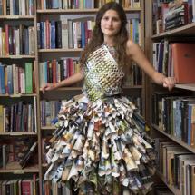 Tijdschriften jurk met Rosalie van Rossem